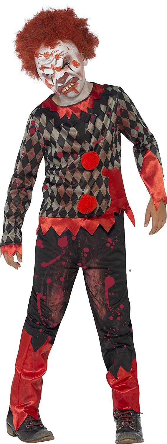 Child zombie clown costume. Smiffys 44293 Large