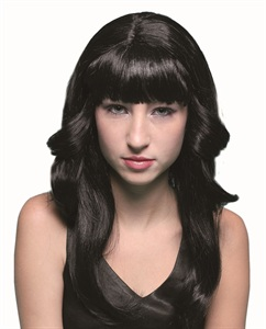 70's Black flick wig ew8088 (wicked)