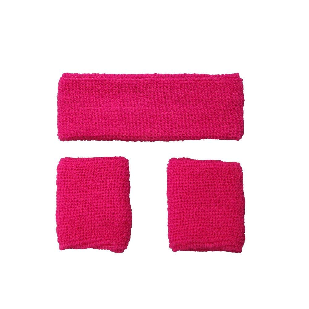 Pink 80's sweatbands ac9332 Wicked