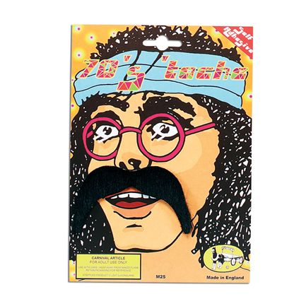 Black 70's moustache MB059