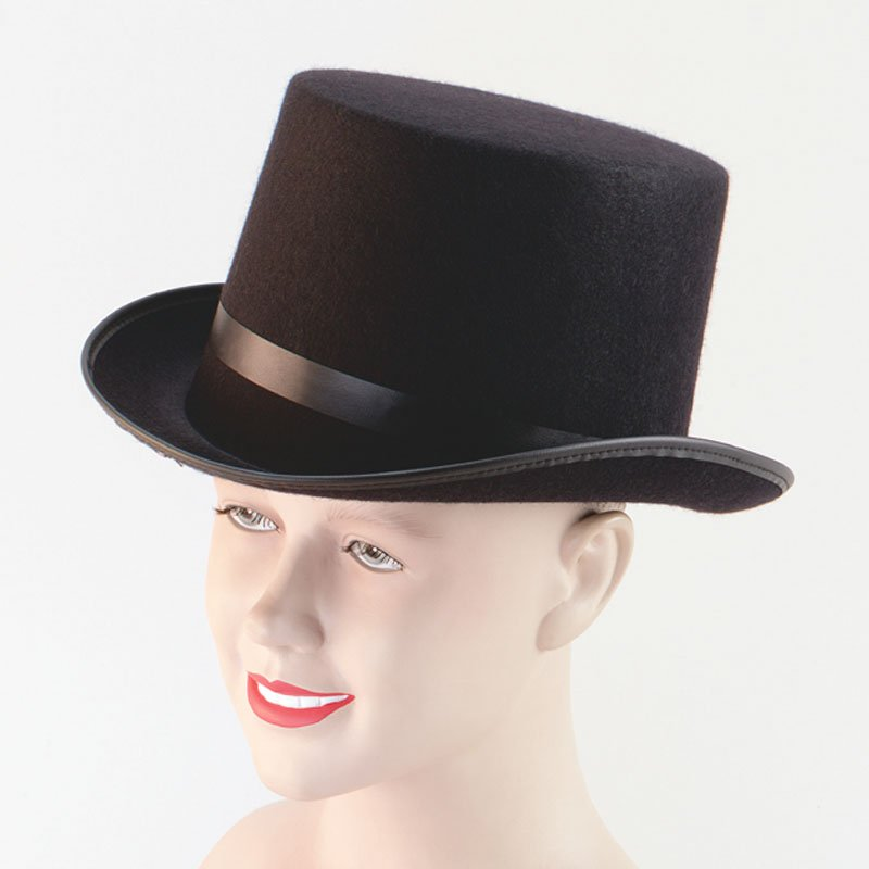 Black felt top hat BH172