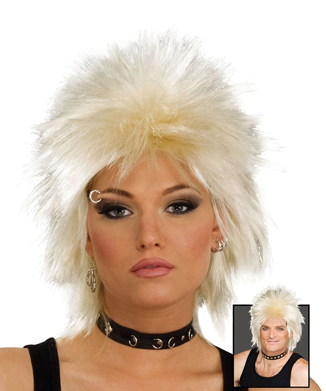Blonde rock idol wig BW692
