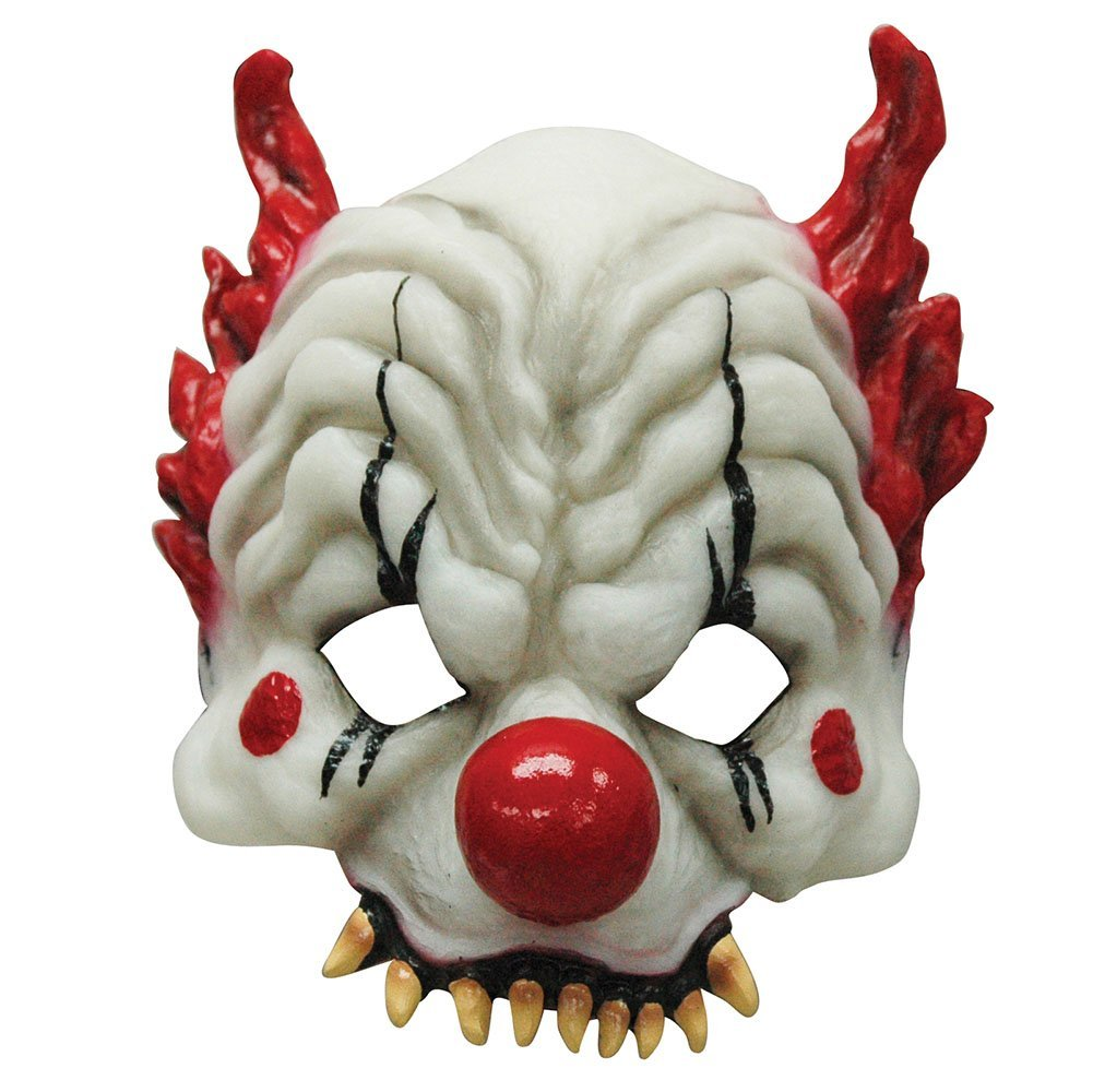 Horror clown half mask bm386