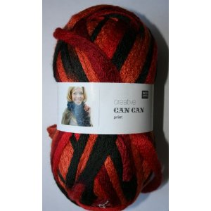 Rico Can Can wool 003 red/ black mix