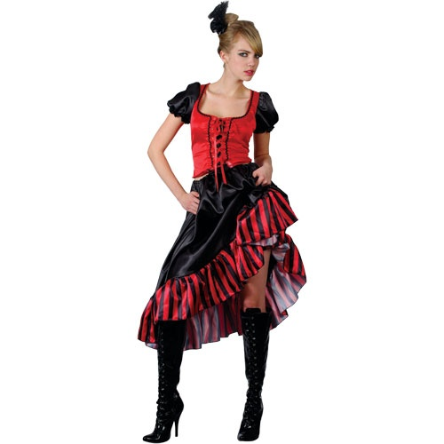 can can/ saloon girl costume ef2078