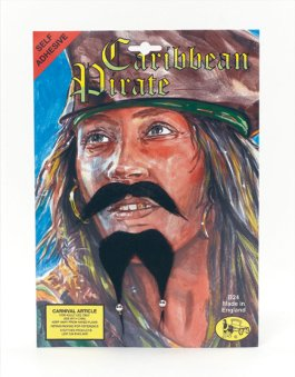 Caribbean pirate tash and goatee MB077