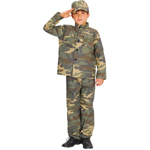 Action commando costume kids EB-4009