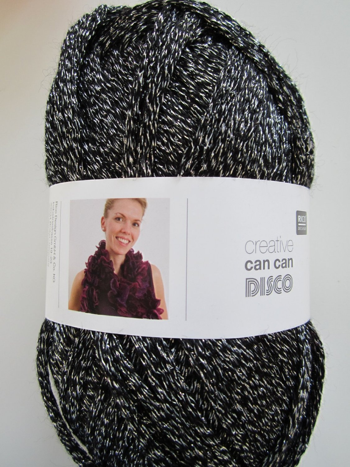 Black silver Disco can can wool -005