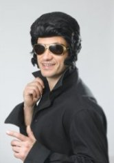 Elvis wig with large sideburns BW580