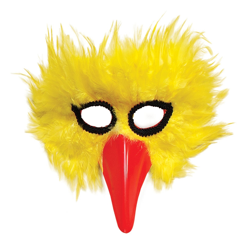 Yellow bird mask EM017