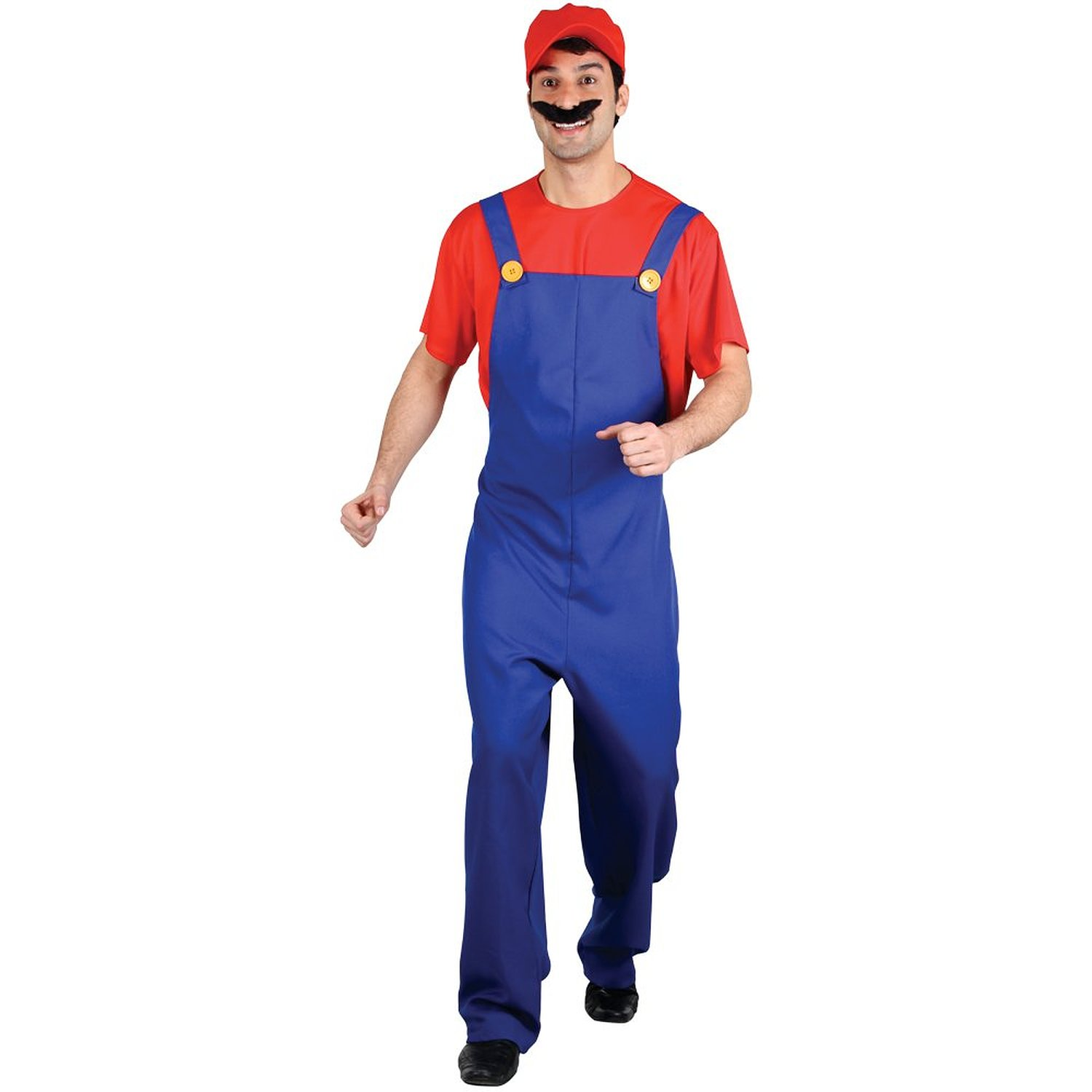 Adult Red funny plumber costume em3134