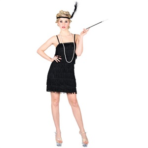 Black showtime flapper costume EF-2121