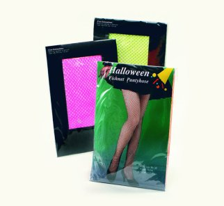 Flourescent fishnet tights