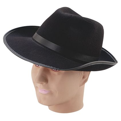 Black felt gangster hat BH243