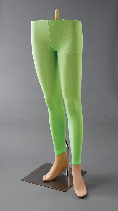 Green footless tights BA399