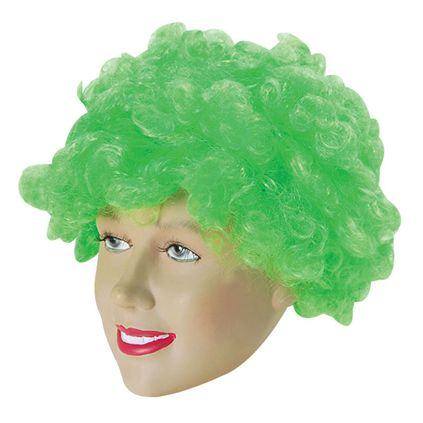 Green curly afro wig BW054