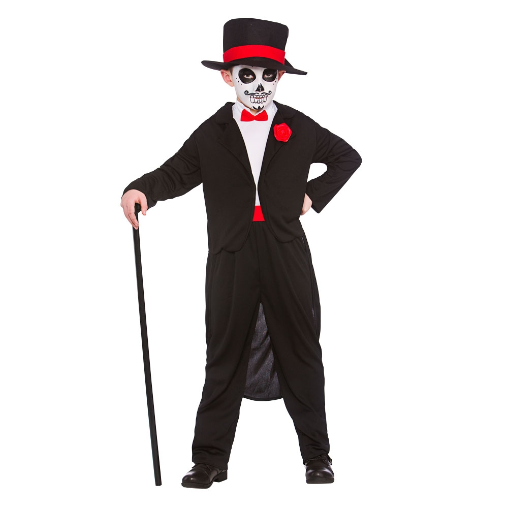 Boys Day of the dead senor costume hb6536