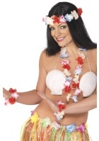 Hawaiian leis set (wrist, neck and head)
