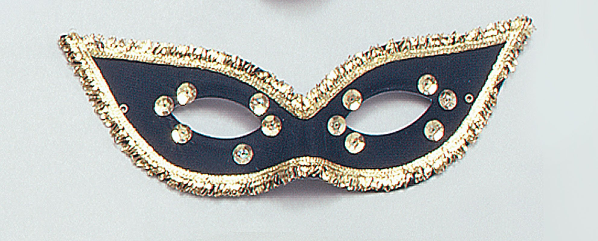 Black fiesta mask/ gold sequins EM132