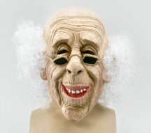 BM235 Old man mask with hair