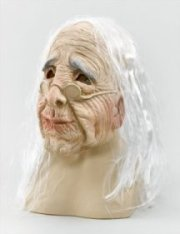 BM236 Old Woman mask with hair