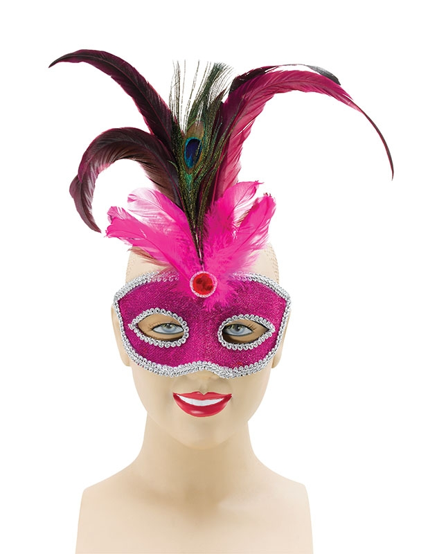 Pink feather eye mask EM033