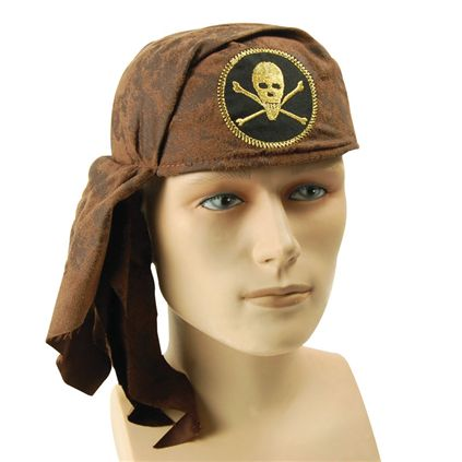 Brown skull pirate hat BH456