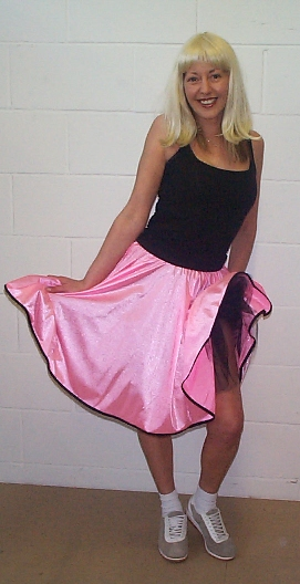 X-Large candy pink rock n' roll skirt DBP49xl