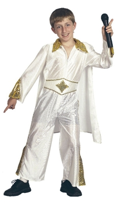 Rockstar costume kids white cc53