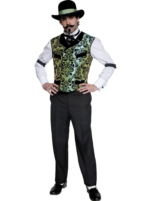 Authentic Western Gambler Costume ef-30375M (smiff