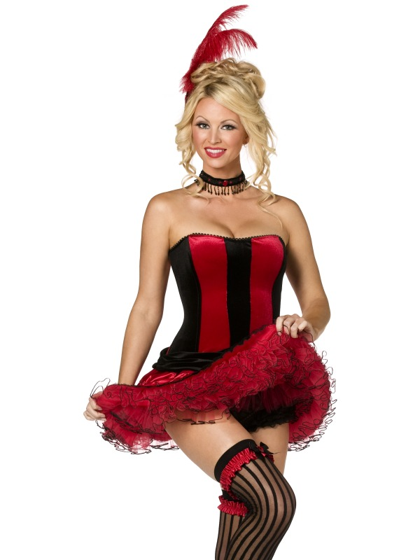 Fever Boutique Can Can 5 Piece Costume ef-34368L
