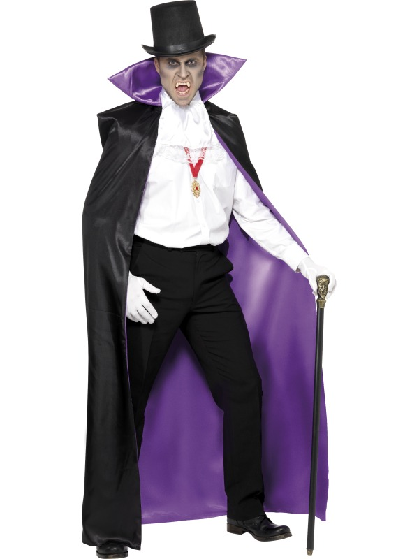 Count Reversible Cape, Black and Purple ef-36848 (
